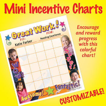 NSD2201 Great Work! Editable Mini Incentive Charts