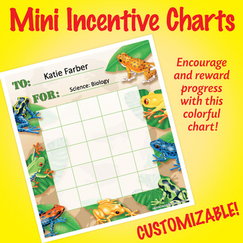 NSD2203 Frogs Editable Mini Incentive Charts