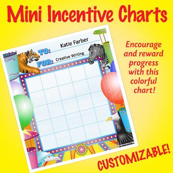 NSD2204 Amusement Park Editable Mini Incentive Charts