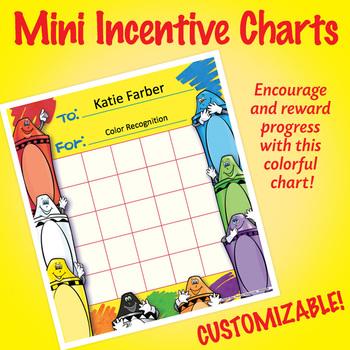 NSD2206 Crayons Editable Mini Incentive Charts