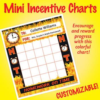 NSD2209 (H.O.T.) Homework on Time Editable Mini Incentive Charts