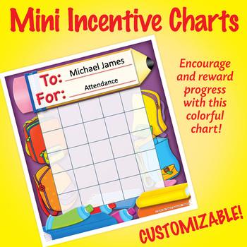 NSD2212 School Tools Editable Mini Incentive Charts