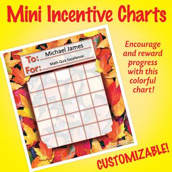 NSD2213 Fall Leaves Editable Mini Incentive Charts