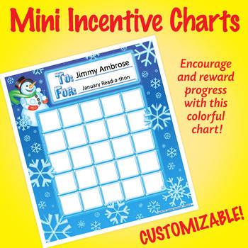 NSD2214 Snowflakes Editable Mini Incentive Charts