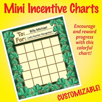 NSD2216 Shamrocks Editable Mini Incentive Charts