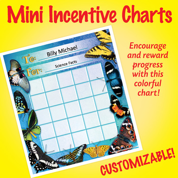 NSD2217 Butterflies Editable Mini Incentive Charts