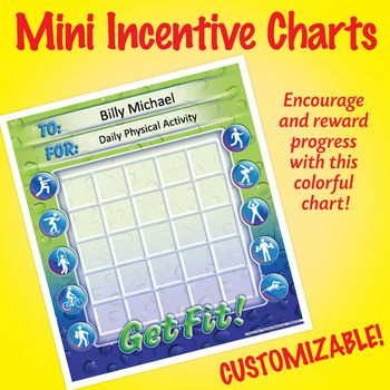 NSD2218 Get Fit! Editable Mini Incentive Charts
