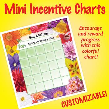 NSD2219 Flowers Editable Mini Incentive Charts