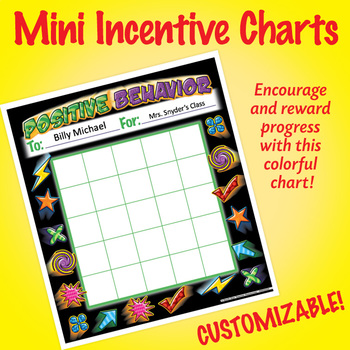 NSD2222 Positive Behavior Editable Mini Incentive Charts