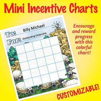NSD2300 His Little Lambs Editable Mini Incentive Charts