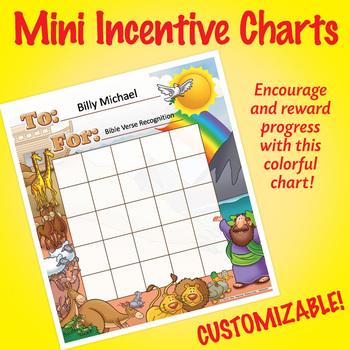 NSD2301 Noah's Ark Editable Mini Incentive Charts