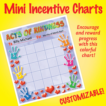 NSD2303 Acts of Kindness Editable Mini Incentive Charts