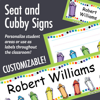 NSD5000 Crayons Editable Seat and Cubby Signs