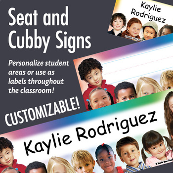 NSD5017 All Kinds of Kids Editable Seat and Cubby Signs