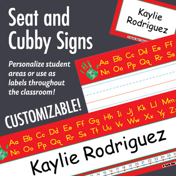 NSD5019 ABCs & Numbers Editable Seat and Cubby Signs