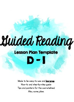 NSGRA Guided Reading D-I Lesson Plan *LOW PREP*