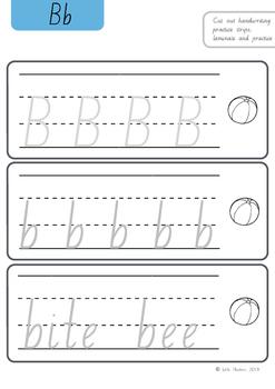 NSW Beginners Cursive Practice Strips