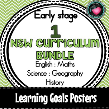 NSW CURRIC EARLY STAGE 1 LEARNING GOALS ENGLISH MATHS SCIENCE GEOGRAPHY HISTORY