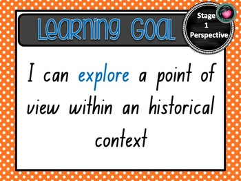 NSW CURRICULUM STAGE 1 HISTORY Learning Goals & Editable Success Criteria