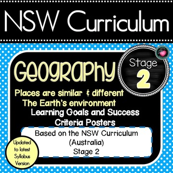 NSW CURRICULUM STAGE 2 GEOGRAPHY Learning Goals & Editable Success Criteria