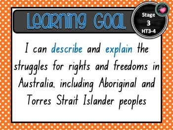 NSW CURRICULUM STAGE 3 HISTORY Learning Goals & Editable Success Criteria