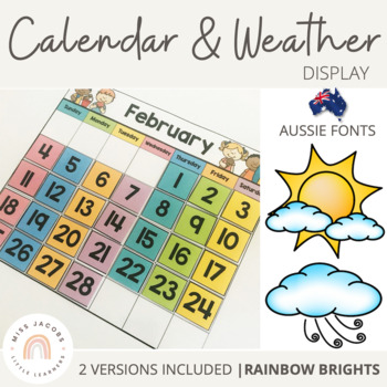 NSW Classroom Calendar and Weather Display {Rainbow Classroom Decor}