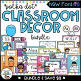 NSW Classroom Decor Bundle {Polka Dot}