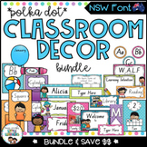 NSW Classroom Decor Bundle {Polka Dot}