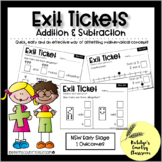 NSW Early Stage 1 Maths Exit Tickets - Addition and Subtraction