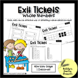 NSW Early Stage 1 Maths Exit Tickets - Whole Numbers