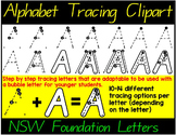 NSW FOUNDATION TRACING LETTERS- STEP BY STEP TRACING ALPHABET CLIPART