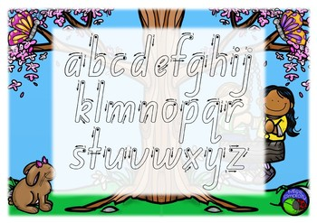 NSW FOUNDATION colour ALPHABET tracing templates  5 designs