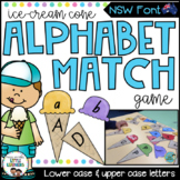 NSW Font Alphabet Match Game (Ice Cream Cones)