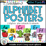 NSW Font Alphabet Posters {Rainbow Theme}