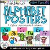 NSW Font Alphabet Posters {Rainbow Theme}