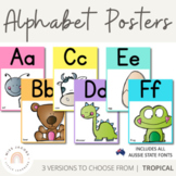 NSW Font Alphabet Posters | Tropical Theme