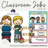 NSW Font Classroom Jobs Display {Rainbow Classroom Decor}