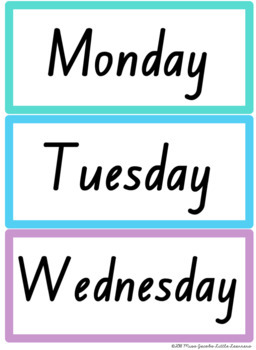 NSW Font Months and Days Labels {Rainbow Theme}
