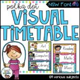 NSW Font Visual Daily Timetable {Polka Dot}