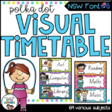 NSW Font Visual Daily Timetable {Polka Dot}