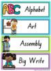 NSW Font Visual Timetable {Rainbow}