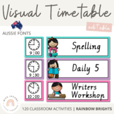 NSW Font Visual Timetable {Rainbow}