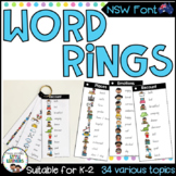 NSW Font Word Rings - Writing Tools
