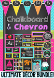 NSW Foundation Font Chalkboard & Chevron Decor Bundle