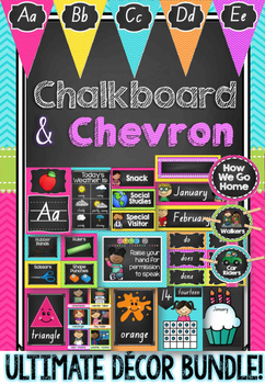 NSW Foundation Font Chalkboard & Chevron Decor Bundle