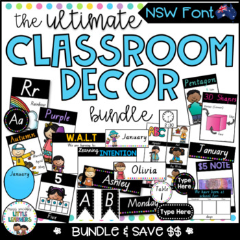 NSW Foundation Font Classroom Decor Bundle