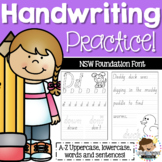 NSW Foundation Font Handwriting Practice Sheets