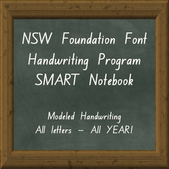 Foundation nsw handwriting teaching resources teachers pay teachers nsw foundation font handwriting program smart notebook whole year program fandeluxe Image collections