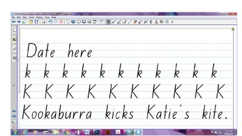 NSW Foundation Font Handwriting Program - SMART Notebook WHOLE YEAR Program!