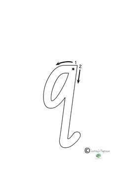 NSW Foundation Font Tracing Letters.